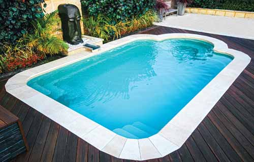 Small backyard pools: Leisure Pools Courtyard Roman