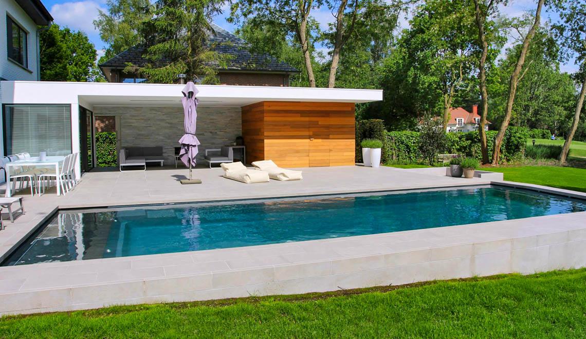 Leisure Pools Cube large composite fiberglass swimming pool